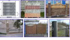 Заборы бетонные. Еврозабор. Декоративные бетонные