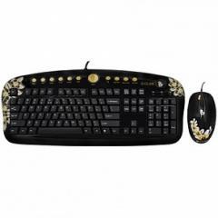 Комплект, (клавиатура+мышь+Коврик,), G-Cube Aloha
