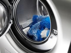 The washing machine for washing of mop (nozzles on