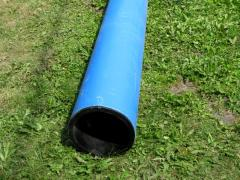 Pipe polyethylene with a sheeting