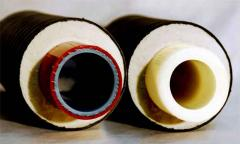 Pipes flexible multilayered heatisolated for the