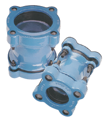 Fittings universal for pipes from polyethylene.