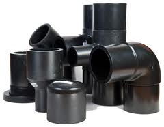 Parts shaped to plastic pipes