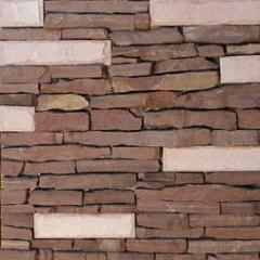 "Sandstone claret-brown. Tile ""End"