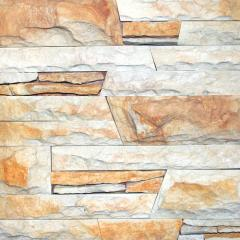 Sandstone White and red (yellow). A tile