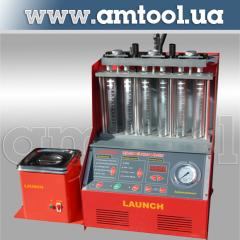 Installation for check and ultrasonic cleaning of