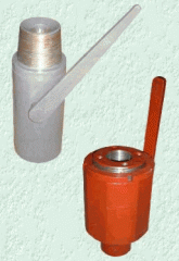 The crane the sharovy and backpressure valve for