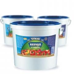 Кетчуп томатный ТМ Чумак ведро 5 кг, продукты для