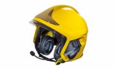 Communication systems for a fire helmet of Gallet