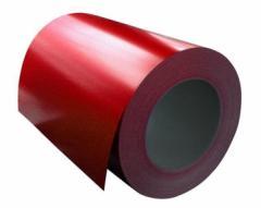 Steel galvanized red