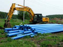 Pipe polyethylene with a sheeting. Pipe of Protek