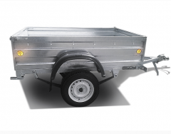 The KRKZ-100 trailer with a galvanized covering