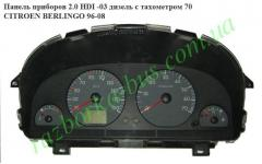 Панель приборов 2.0 HDI -03 диз с тахом 70