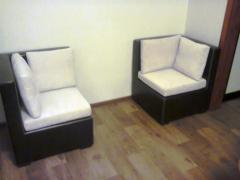Easy chairs for clients