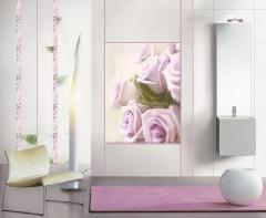Tile decorative glass Roses of the Panel Lilac