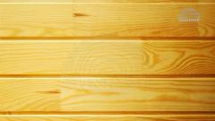 Wooden finger- jointed wall panelling from pine -