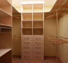 Rooms are wardrobe