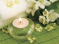 Tile decorative glass Spa Spa Green 01 333х250 mm