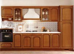 Facades from a natural tree for kitchens to order