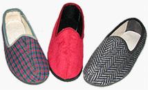 Туфли текстильные (тапочки) на подошве из