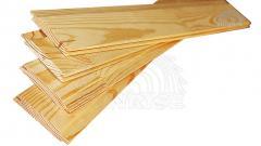 Вагонка срощенная деревянная сосновая -...