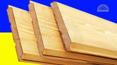 Wooden finger- jointed cladding board from pine -