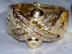 "Золотое кольцо с Бриллиантами ""Звездное"