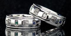 Золотое обручальное кольцо «Узел Троицы» от