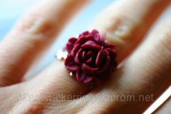 "Кольцо ""Красная роза"""