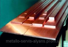 Strip copper M1 firm 10х100х4000