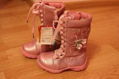 Зимние розовые сапоги для девочки Размер 29, 30