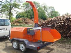 Rubilny cars, crushers for crushing of wood of