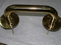 Handrails, stainless steel, coated with Titanium