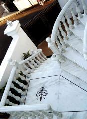 Rail-posts, carvings, ornaments, mosaics
