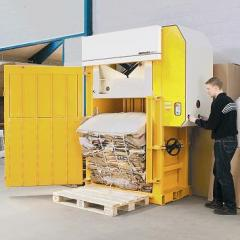 Hydraulic the press for paper, a cardboard,