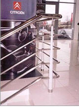Handrail is welded