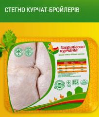 Бедра куриные цыплят-бройлеров ТМ Гавриловские курчата: охлажденные нефасованные, на подложке, в термоформе вакуум, в СЭС упаковке индивидуальном пакете.Куриная продукция, курятина.