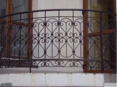 Балконы кованые.