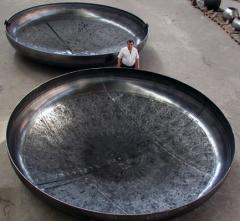 The bottoms for capacities and tanks