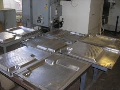 Compression molds for rubber products