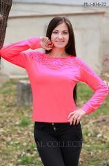 Блуза трикотажная, трикотажный гольф PL1-836