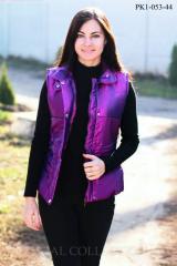 Vests female RK1-053 raincoat fabric