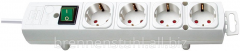 Extender 4 sockets; cable 2 meters; white
