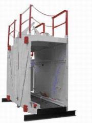 Клеть шахтная неопрокидная КНМ для спуска-подъема