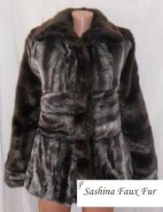 Jacket from imitation of a chinchilla and a mink