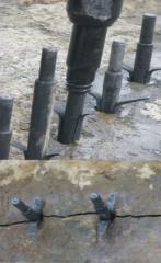 Wedges under the pneumohammer