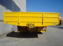 Двухосный полуприцеп для перевозки зерноуборочных