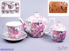 Посуда кухонная фарфоровая. Набор чайный 14