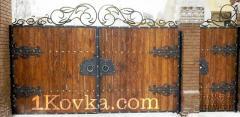 Ворота и калитки кованые 57
