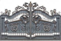 Ворота для дома кованые 69